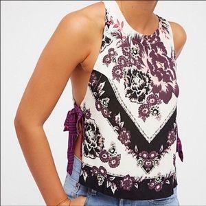 Free people sweet love side tie tank top medium